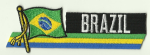 Brazil Embroidered Flag Patch, style 01.